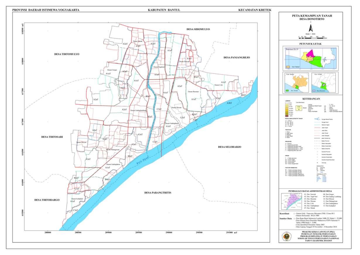 Peta Kemampuan Tanah Donotirto_A0