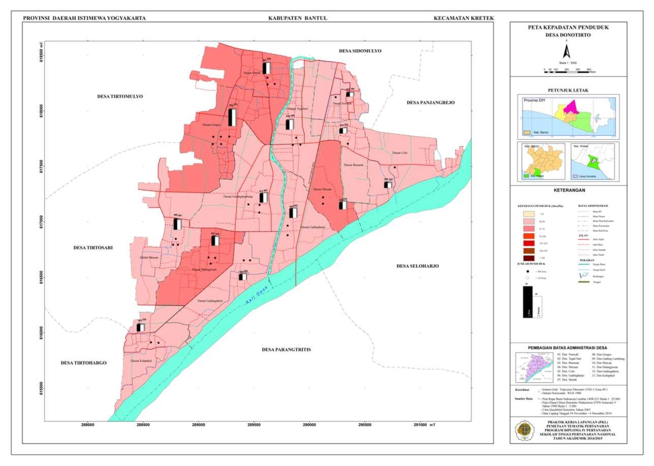 Peta Kepadatan Penduduk Donotirto_A0